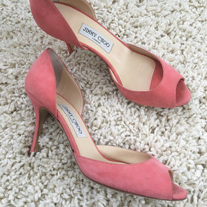 Jimmy Choo: Pink Logan D'orsay Pumps